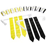 Wyzworks Flag Football set – 12 cinture, 18 nero Flags & 18 Yellow Flags