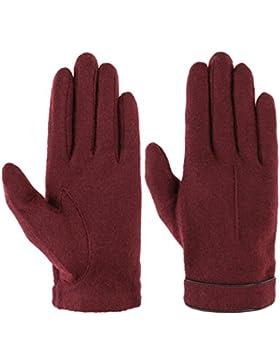 Roeckl Strickhandschuh mit Lederpaspel Strickhandschuhe Handschuhe Wollhandschuhe