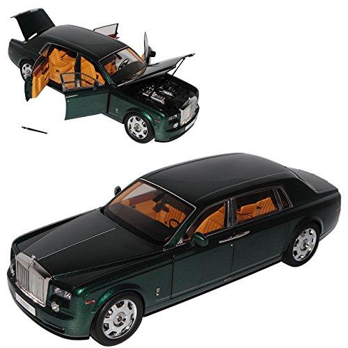 Rolls Royce Phantom EWB Brookland Grün 1/18 Kyosho Modell Auto mit individiuellem - Modell Phantom Rolls-royce