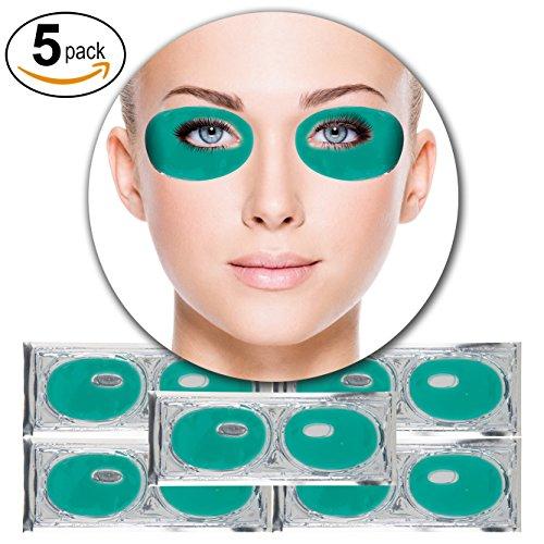 5 Paar Grün Aloe Vera Kollagen Gel Kristall Augen Masken Feuchtigkeit Haut Straffend