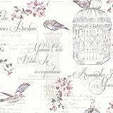 pergament tapete liebe buchstaben patchwork rose postkarten v gel tapete baumarkt. Black Bedroom Furniture Sets. Home Design Ideas