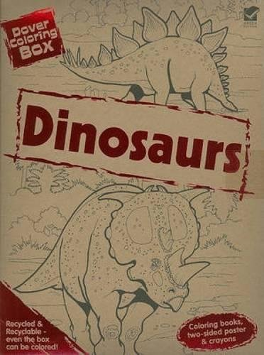 Dover Coloring Box: Dinosaurs [With Poster and Crayons and 2 Paperbacks] (Dover Fun Kits)