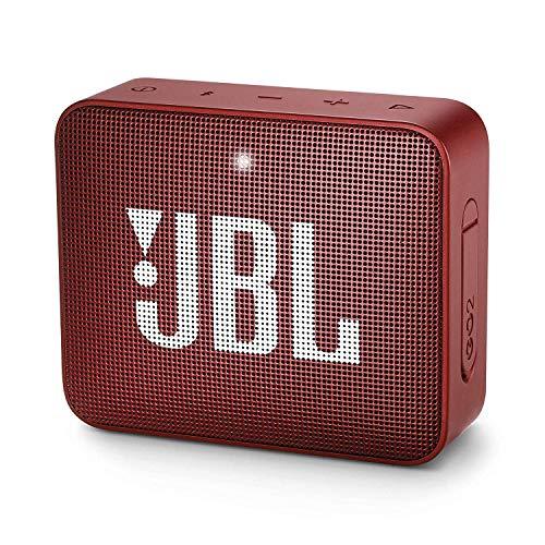 JBL JBLGO2RED Mini Enceinte Portable - Étanche pour Piscine & Plage IPX7 - Autonomie 5hrs - Qualité Audio Bluetooth, Rouge