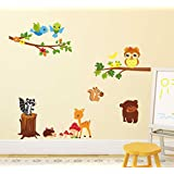 Decals Design 'Lovely Jungle Theme' Wall Sticker (PVC Vinyl, 50 Cm X 70 Cm X 1 Cm)