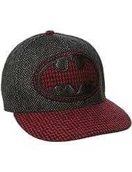 DC Comics Batman Logo Houndstooth Print Adjustable Baseball Cap