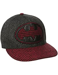 DC Comics Batman Logo Houndstooth Print Adjustable Baseball Cap