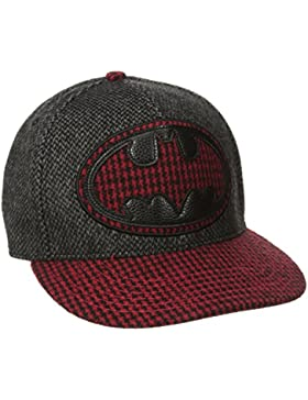 DC Comics Batman Logo Houndstooth Print Adjustable Gorra De Béisbol