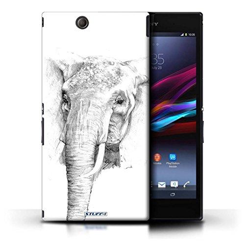 Kobalt® Imprimé Etui / Coque pour Sony Xperia Z Ultra / Aigle / Oiseau conception / Série Dessin Croquis éléphant