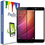 #5: POPIO™ Pro HD+ Full Screen Coverage Tempered Glass Screen Guard Protector for Redmi Note 4 (Black)