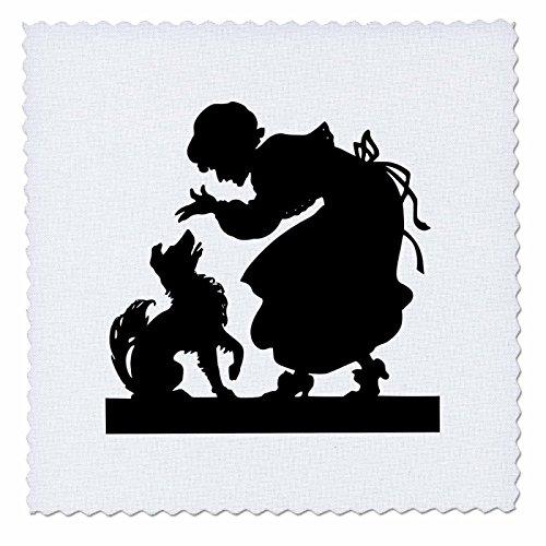 1Lady N Ihrem Hund in Silhouette Quilt Platz, 10von 25,4cm (Quilt Square Hund)