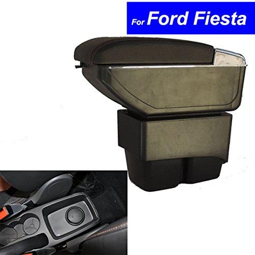Preisvergleich Produktbild szss-car Leder Auto Mittelkonsole Armlehne Box Armlehnen Aufbewahrungsbox(Schwarz)