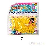 2-Sacchetto di perline d'acqua sfera gel Giallo, Cuscino Art floreale, decorazioni, motivo: floreale