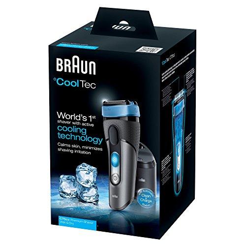 Braun CoolTec CT5cc Wet&Dry Rasoir Electrique à Grille avec Station Clean&Charge