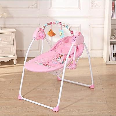 Docooler Cuna para bebé Columpio eléctrico Balanceo Control Remoto Silla Canasta de Dormir Cama Cuna para recién Nacido