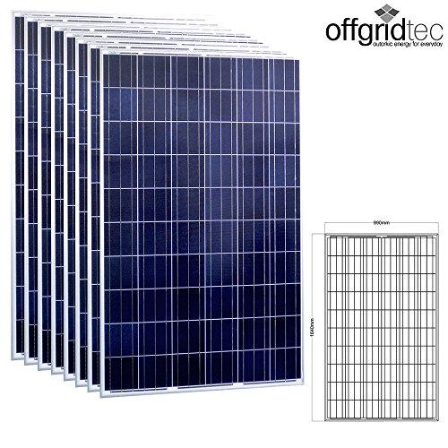 8 Stück Offgridtec® 250W Poly 36V Solarmodul Projetktmodul Photovoltaik Solarpanel