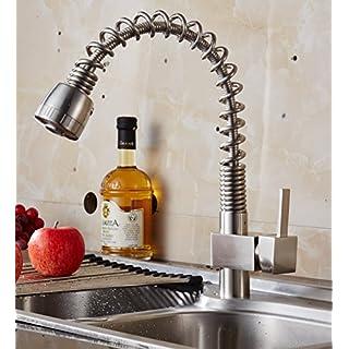auswind Commercial Ziehen Spring Küchenarmatur Sprayer Single Griff Hebel, Nickel gebürstet
