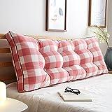 Dreieck Bettside Rückenpolster/große zurück Kissen/Sofa Soft Bag/Schlafzimmer Zwei-Personen-Bett Kissen, 7 Farben, 8 Größen Bedside große Rückenlehne (Farbe : #4, größe : 200×20×50cm)