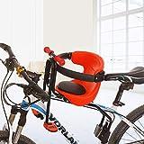 BANDRA Kindersitz Fahrrad Vorne mit Sattelkissen, Armlehne, Rückenlehne und Fußpedalen