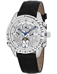 Burgmeister Armbanduhr für Herren mit Analog Anzeige, Automatik-Uhr und Lederarmband - Wasserdichte Herrenuhr mit zeitlosem, schickem Design - klassische Uhr für Männer - BM354-182 Palm Bay