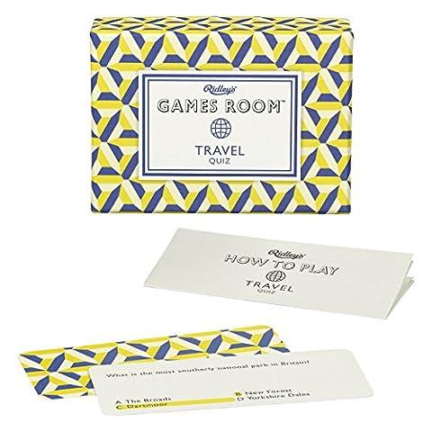 Games Room Travel Trivia