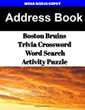 Address Book Boston Bruins Trivia Crossword & WordSearch Activity Puzzle