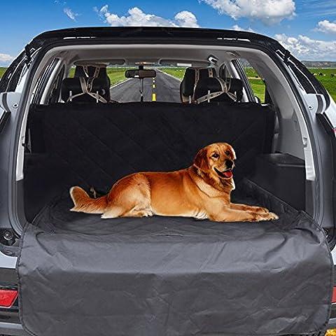 Haustier-Sitzabdeckung, Focuspet-Hund-Auto-Sitzabdeckung Wasserdichte kratzfeste stainproof rutschfeste Rückseite Hängematte-hintere Bank-Sitz-haltbar und maschinenwaschbar für SUV-Auto-Vans-LKW-Schwa