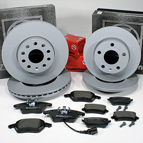 Preisvergleich Produktbild Zimmermann Bremsscheiben 1ZE,1KE Coat Z/Bremsen + Bremsbeläge für vorne + hinten