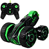 SGILE Rechargeable RC Stunt Car Racing RC Car 5 Wheels 2WD Double Side 360 Degree Spins Rolling Radio Control With LED Light Racing Vehicle