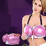 HHORD Brustmassage, Elektrische Brustmassage, Vibrierende Brustvergrößerung Massage BH Automatische Heizung (Rosa)
