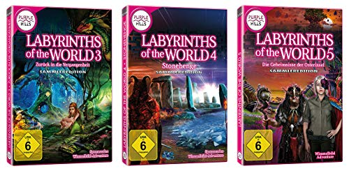 "Yellow Valley 3er-Set Wimmelbild-PC-Spiele ""Labyrinths of the World 3-5\"""