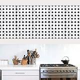 JY ART Folie Fliesensticker u. Fliesenaufkleber   Klebefolie Fliesen Aufkleber Folie Sticker für Küche u. Bad-Fliesen Wanddeko   Schwarz und weiß Mosaik, 20 * 20cm