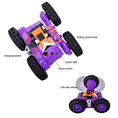 Mini Coche Teledirigido RC YOKKAO, Coche Radiocontrol Alta Velocidad, Capacidad de hacer piruetas y girar sobre si mismo