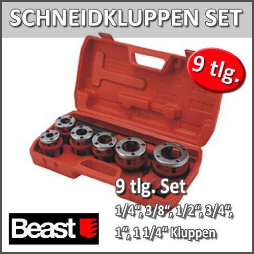 Schneideisen Hand-Hydraulische in Koffer Kunststoff. Schneidkluppen-Gewinde von 1/4\'-3/8\'-1/2\'-3/4-1\'-11/4\', portafiliere wendbar, Verlängerung für Wagenheber.
