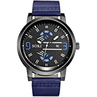 Cebbay Liquidación Reloj Pareja Ocio Moda Noble correa de nylon Analógico Cuarzo Ronda Relojes de pulsera (Azul)