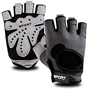 FITSY® Gym Gloves with Padding, Weight Lifting Gloves for Men and Women, Workout Gloves for Women and Men, Unisex Gym Gloves with Light Padding - Medium