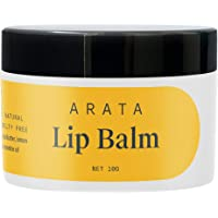 Arata Natural Lip balm (10 gm) for dry, chapped lips with Intense Moisturizing || Power of Cardamom oil || Cocoa & Mango…