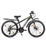 ROMET 24 Zoll Dirtbike MTB Alu 21 Gang Shimano Scheibenbremsen Federgabel, LED Licht STVO-tauglich