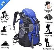 Hiking Mountaineering Trekking Backpack Tactical Bag 50L Large Capacity Multi Pocket Waterproof for Outdoor Ba