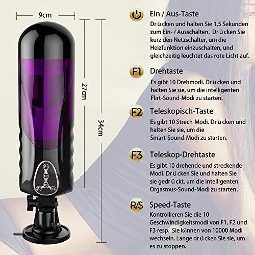 Automatischer Masturbator Cup Teleskopischer Rotations Anal BlowJob Doppel Masturbatoren 400 mal Vibrieren per Minute Sexspielzeug für Männer Von Fancy Lover (Teleskopischer Rotations) - 2