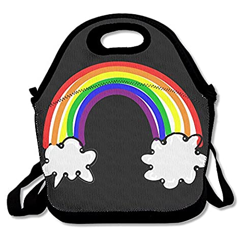 Xiisxin Free Rainbow Clipart Lunch Tote Bag - Large & Thick Insulated Tote - Suit For Men Women
