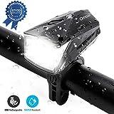 Omasi LED Fahrradlicht StVZO Zugelassen USB Wiederaufladbare Fahrradbeleuchtung fahrradlichter Wasserdicht Frontlicht für Fahrrad