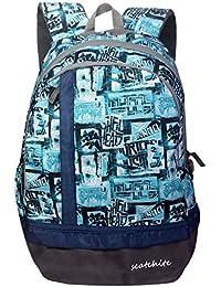 Scatchite Luxur 20 Ltrs Aqua Casual Backpack (S77)