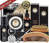 kit cuidado barba con champu barba, peine barba, cepillo barba, aceite barba,...