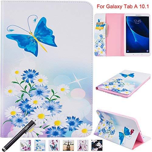 10.1Fall, newshine Smart Auto Sleep/Wake Portfolio Case Flip Stand Cover für Samsung Galaxy Tab A 25,7cm Tablet (sm-t580/T585) 2016Release, 10.1 inch, 5 Daisy&Butterfly ()