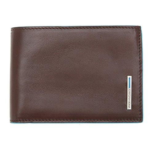 Piquadro Blue Square Herrengeldbörse mit Hartgeldfach 9 cm