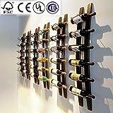 Estante de Pared para Vino, Diseño de Barril, Color Marrón, 101,6 x 10,16 x 2,54 cm