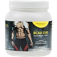 EXVital BCAA 1100 Maximum Caps, Aminosäure, 300 Kapseln in Spitzenqualität, mit Vitamin B6, 1er Pack (1 x 384g) - preisvergleich