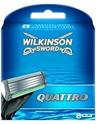 Wilkinson - Quattro - Lames de rasoir pour Homme - Pack de 8