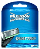 Wilkinson Sword Quattro Klingen, 8 Stück