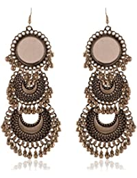 Ganapathy Gems Metallic Metal Dangle & Drop Earrings For Women (13420)